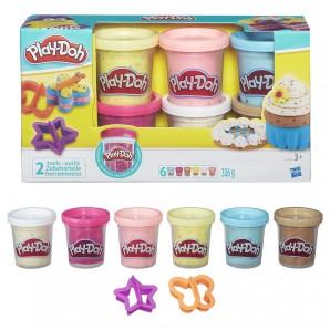 Play-Doh Konfettiknete 6 Farben ass. mit 2 Formen