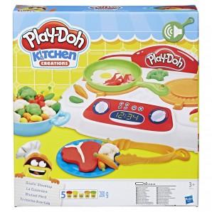 Play-Doh Brutzel-Herd 5 Dosen Knete,