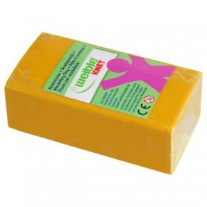 Blockknete 250 g, gelb 110x55x38 mm