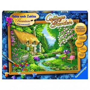 Malset Cottage Garden Malen nach Zahlen Premium