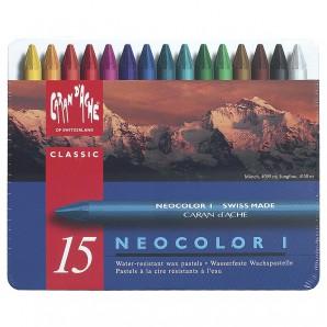 Neocolor I, 15 Farben wasserfest,