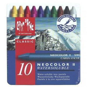 Neocolor II , 10 Farben wasserlöslich,