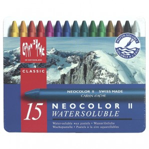 Neocolor II, 15 Farben wasserlöslich,