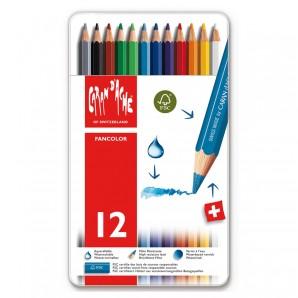 Farbstifte Fancolor 12 Stück wasservermalbar