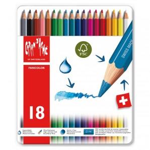 Farbstifte Fancolor 18 Stück wasservermalbar