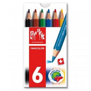 Farbstifte Fancolor, klein 6 Stück in Kartonetui