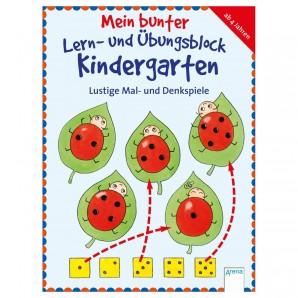 Lernblock Kindergarten Mal- und Denkspiele