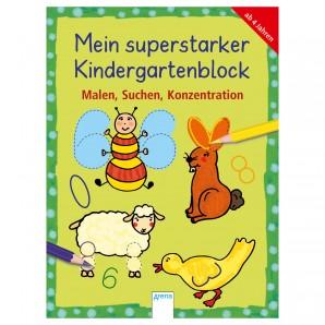 Malen, Suchen, Konzentrieren Kindergartenblock,