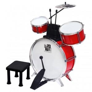Schlagzeug mit Hocker und 3 Trommeln