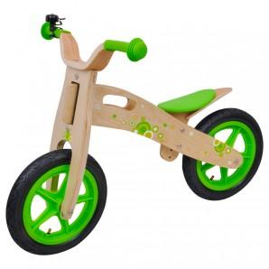 Laufrad Bubble Bike grün Holz,
