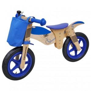 Laufrad Moto Bike blau Holz,