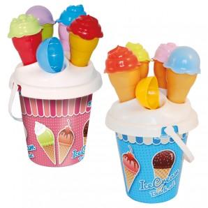 Eiscreme-Set mit Eimer Eimer ø 16 cm,