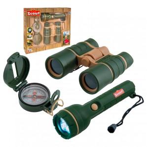 Entdecker-Set Scout 3-teilig Taschenlampe,