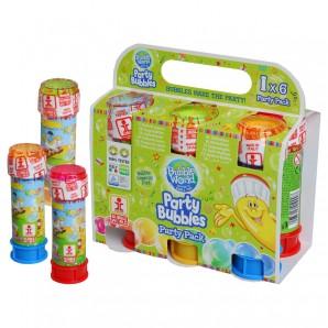 Seifenblasen Partypack 6 Flaschen à 60 ml