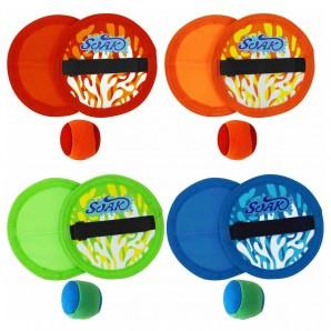 Klettballspiel Neopren ass. 2 Fangscheiben ø 15.2 cm