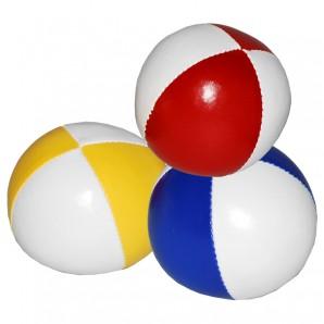 Jonglierball-Set weiss-uni 3 Stück im Beutel,