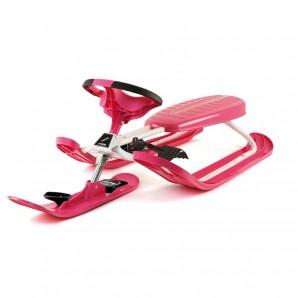 Snowracer Color Pro, pink 130x55x37cm,