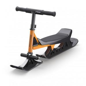 Snow Rider orange/schwarz robuster Alu-Stahlrahmen