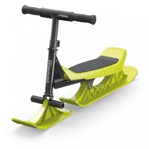 Snow Rider schwarz/lime robuster Alu-Stahlrahmen