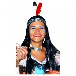 Indianer Stirnband mit Federn assort.gelb,