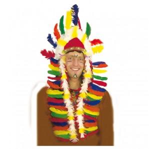 Kopfschmuck Indianer L: 49 cm,