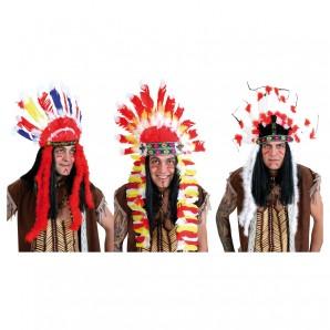 Indianer Kopfschmuck 3-fach