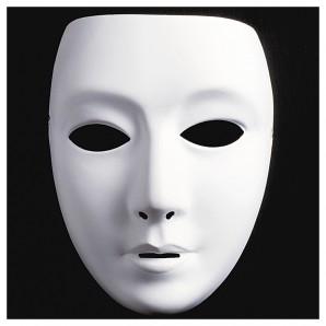 Maske zum bemalen Frau weiss,