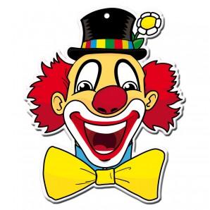 Dekomaske Clown Leo 47x37 cm,