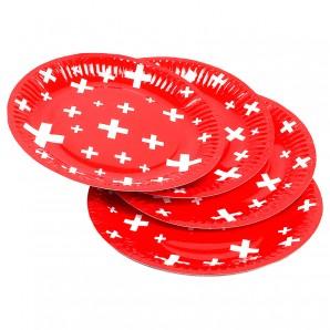 Pappteller Swiss 8 Stück,