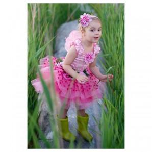 Kleid Flower pink, 4-6 Jahre 3-teilig,