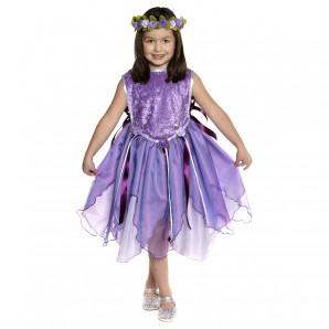 Kleid Tunika Wald Fee  3-5J. violett,