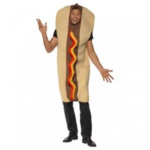 Kostüm Hot Dog, one size mit Ketchup & Senf Effekt