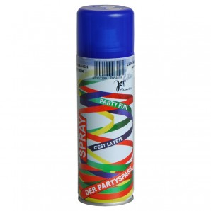 Luftschlangenspray, blau