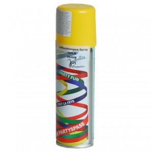 Luftschlangenspray, gelb